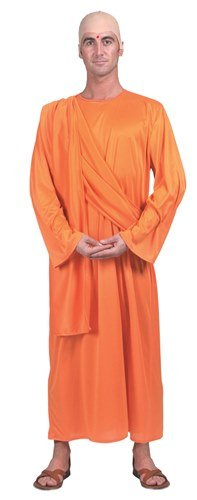 [Hare Krishna Male Fancy Dress Robe - One Size] (Fancy Dress Krishna Costume)