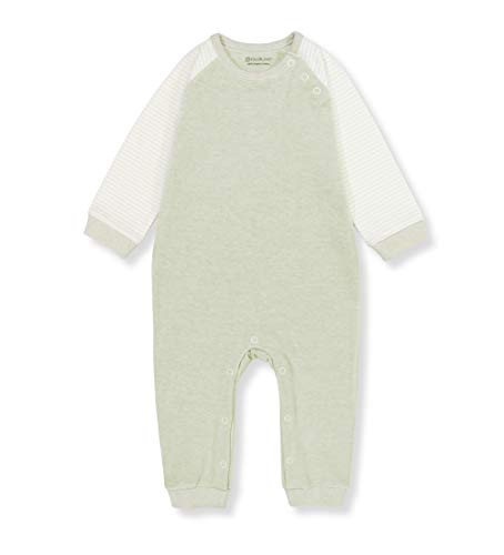 Owluxe No Dye Baby Organic Cotton Infant Unisex Footless Long Sleeve Pajamas Sleeper (Green, 12-18 Months)