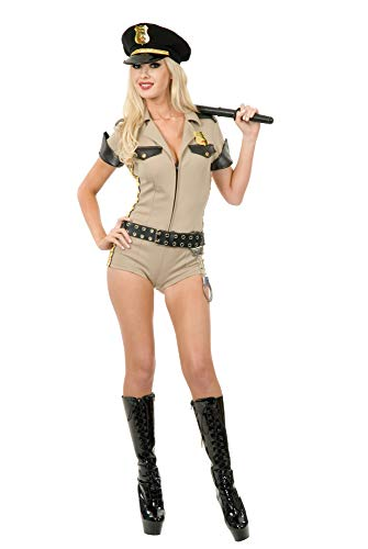 Officer Dangle - Charades Women's Reno Sheriff, Khaki,