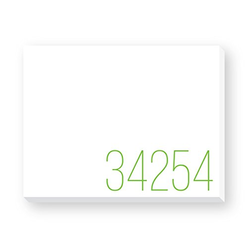 KELLY GREEN STATIONARY, 2-PACK, Zipcode Dittie Notepads, PERSONALIZE WITH YOUR OWN ZIP CODE