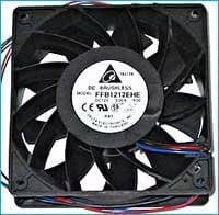 Delta FFB1212EHE-F00 120 x 120 x 38mm Cooling Fan, 190 CFM, 4000 RPM, 59 dBA, 17.78 air pre, 4-pin molex + 3 pin Tach Connector. Combo Set of 3 Fans!! Ship from USA !!