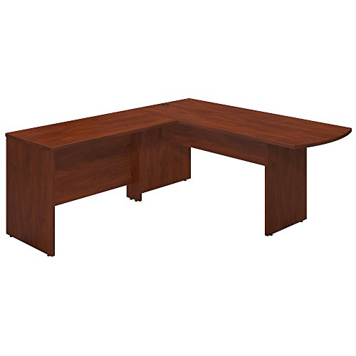 Bush Business Furniture Series C Elite 72W x 30D Peninsula Desk Shell with 48W Return in Hansen Cherry