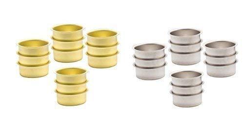 Support De Chauffes-plats Porte-bougies Or et Couleur argentée 40 mm - 20 Morceaux