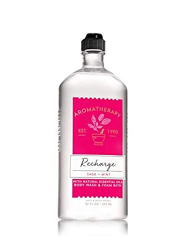 Bath & Body Works Aromatherapy Recharge Sage + Mint Body Wash 10oz by Bath & Body Works
