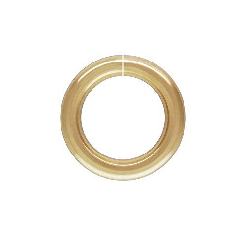 - 10mm Gold Filled Round Open Twist Lock Jump Ring