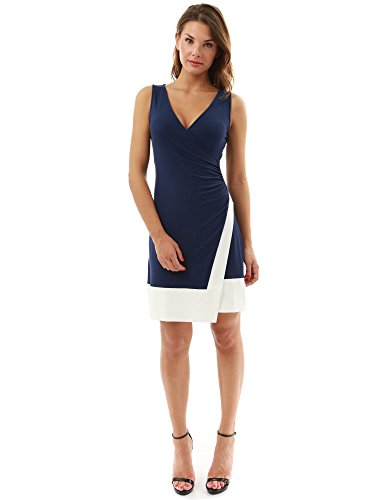 PattyBoutik Womens Block Color Dress product image