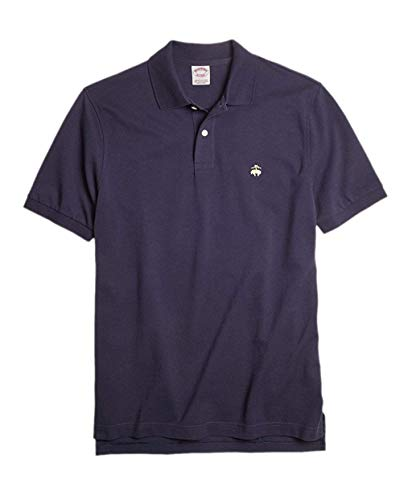 - Brooks Brothers Men's Original Fit Performance Pique Polo Shirt Navy Blue (X-Large)
