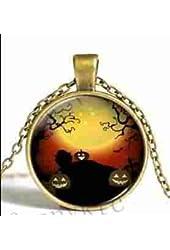 Halloween Pumpkin Pendant Necklace