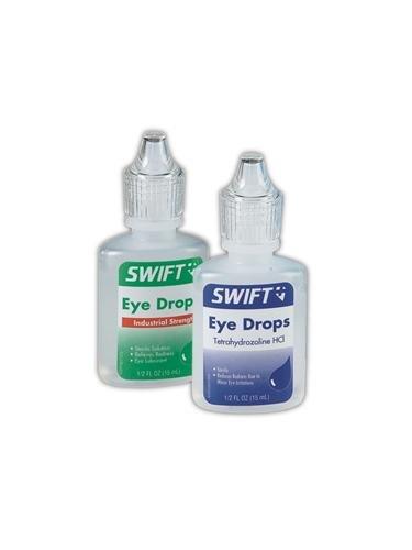 - Swift First Aid Supplies 2465015 Industrial Eye Drops, 0.5 oz.