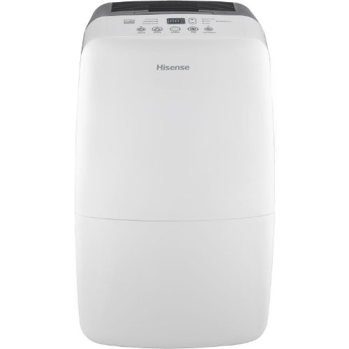 Hisense Energy Efficiant Dehumidifier with Built-In 1200W (4095 BTUs) Heater, Electronic Control Panel w/Heat Function, 3 Running Modes, Drain Hose Connection for Continuous Drainage (Hose Not Included), Washable Filter, Caster Wheels by Hisense