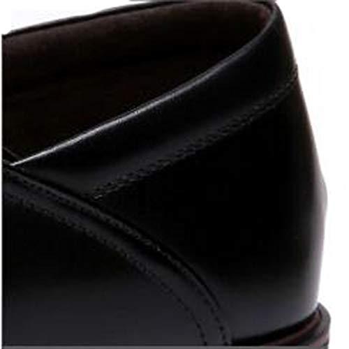 Casual 39 De Trabajo Zapatos Malpyq Los brown Cuero Temporadas Hombres Cuatro Suave qTPaww8A
