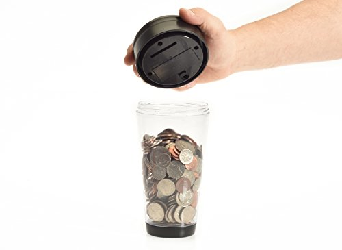 Digital Coin Tumbler - Coin Counter Change Organizer fits Car Cup Holders Cars - Automatically Totals the Value of U.S. Coins Photo #2