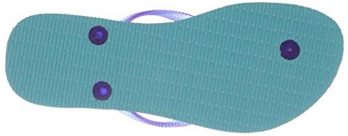 Havaianas Slim con Logo da donna in gomma con Pop-Up, Blu (Blu ghiaccio), 39 EU M