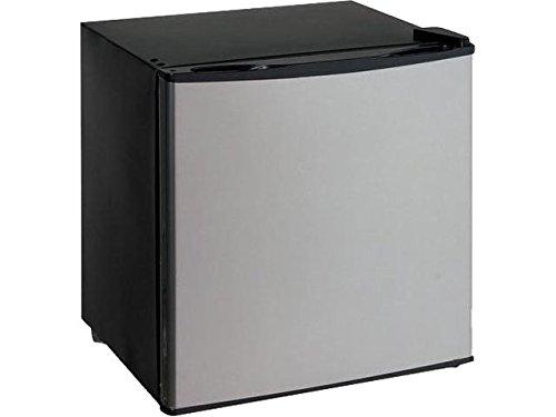Avanti VFR14PSIS Flush Back Design 1.4 cu ft Dual-Function Refrigerator/Freezer, Black/Grey