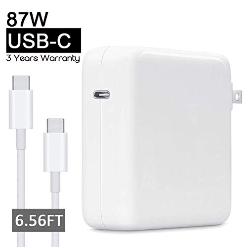 87W Power Adapter Compatible with Apple MacBook Pro Charger USB C 15 13 inch Include Charge Cable(2M)