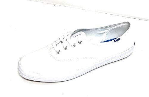 Keds Women's Champion Original Canvas Lace-Up Sneaker, White, 11 M US