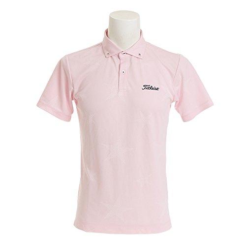 タイトリスト TITLEIST 半袖シャツ?ポロシャツ ストレッチ星柄半袖ポロシャツ ピンク L