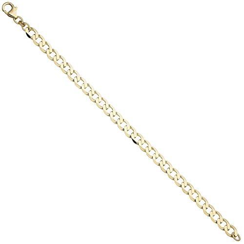 6,6mm Gourmette Bracelet Bracelet Chaîne Bracelet Bijoux en or jaune 33319cm