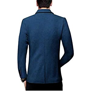 BREGEO Men's Cotton Casual Blazer