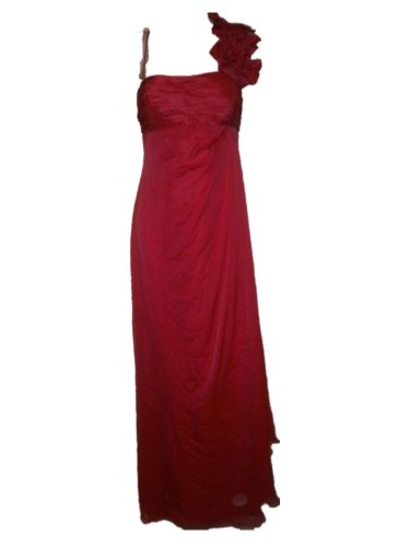 Teri Jon Rickie Freeman Womens Gown Dress 10 Persimmon Pink