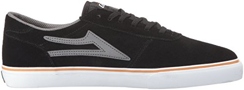 Grey Lakai Men's Suede Black Skateboarding Manchester Shoe HS184q