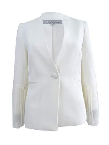 Tahari ASL Womens Petites Suit Separate Business Jacket Ivory 4P