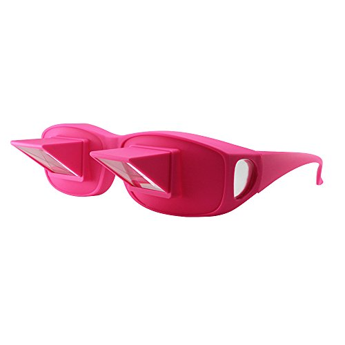 Horizontal Loon Glasses Refraction Glasses Bed Prism Spectacles Glasses - - Pink Spectacles