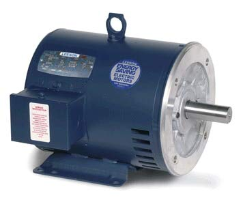 5 hp 3450 RPM 182TC Frame ODP C-Face (rigid Base) 208-230/460 Volts Leeson Electric Motor # 132242 ()