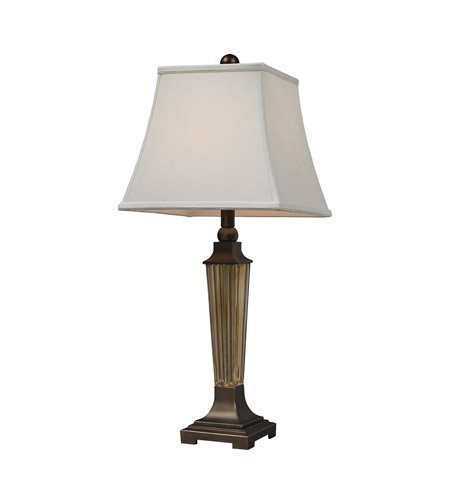Table Lamps 1 Light With Amber Smoked Glass and Bronze Base Glass and Resin Medium Base 29 inch 9.5 (Amber Glass Table Lamp)