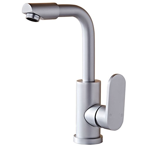 MDRW-Bathroom Accessories Basin Faucet Space Aluminum Bathroom Taps Toilet Hot And Cold Shower Basin Single Hole Bathroom Taps