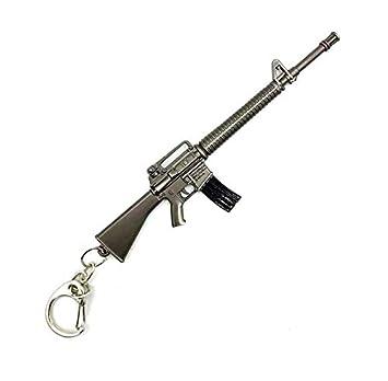 Pistola llaveros del Metal 3D: Amazon.es: Equipaje