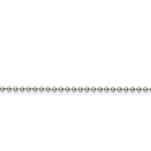 Roy Rose Jewelry Stainless Steel 2mm Ball Chain 22'' inches Length
