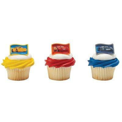 Cars 3 Nex-Gen Racers Cupcake Rings - 24 pc ()