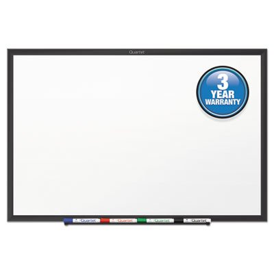Quartet Standard Melamine Whiteboard, 60 x 36, Black Aluminum Frame (QRTS535B)