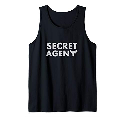 Secret Agent Shirt Distressed Halloween Funny Costume Spy Tank Top
