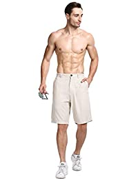 Lavenderi Men's Linen Casual Classic Short