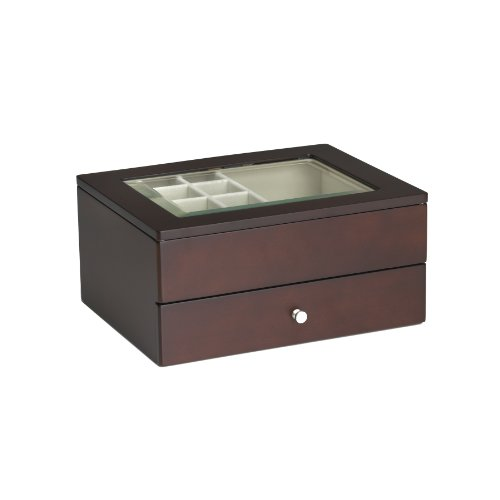 Wallace Mahogany Jewelry Box with drawer