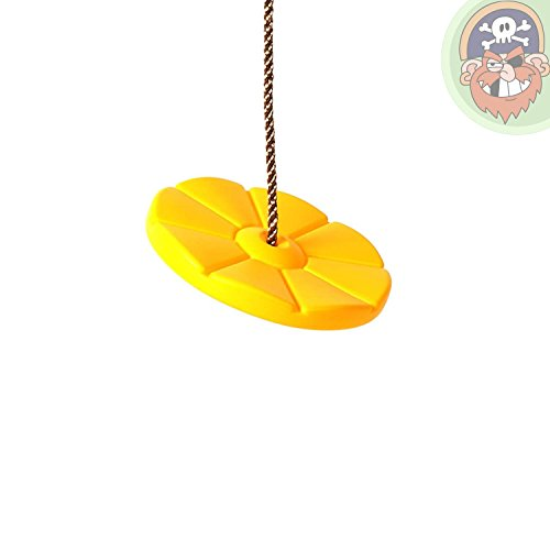 Balançoire disque - Siège disque en plastique coloris jaune de Gartenpirat®