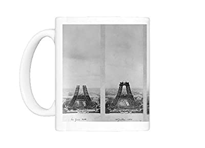 Mug Of Eiffel Tower Construction Montage (11954364)