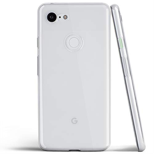 Clear Pixel 3 Case, Thin Soft Cover Slim Flexible TPU - for Google Pixel 3 (2018) - totallee (Transparent)