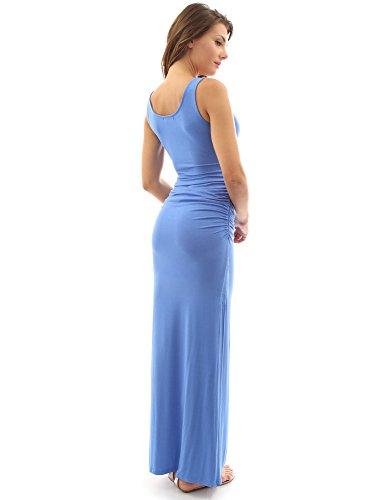 maxi PattyBoutik Blu maniche Donne estate vestito qvU41vT