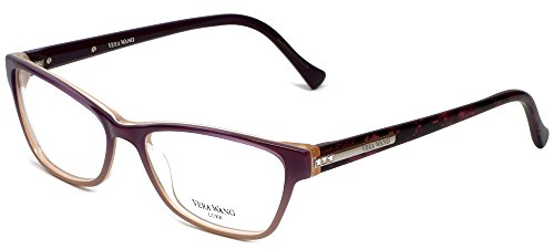 VERA WANG Eyeglasses V340 Wine 55MM