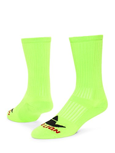 Number One Crew Digit Sports Sock Single Sock, Not Pair ( Neon Green / Black # blank - Small )