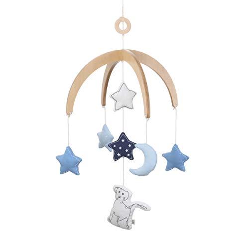 (ED Ellen DeGeneres Doodle Dog - Ceiling Mobile, Doodle Dog with Stars & Moon, Navy, Light Blue, Ivory)
