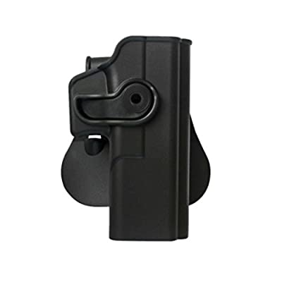 IMI Defense Tactical Combo Z1050 Best Roto Retention Paddle Holster + Double Magazine Pouch Black Polymer For Glock 20/21/28/30/37/38 Gen 4 Compatible Pistol Handgun