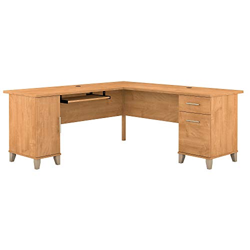 - Bush Furniture Somerset 71W L Shaped Desk, Maple Cross