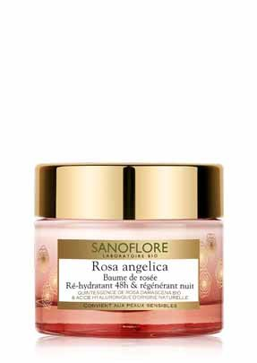 Sanoflore Rosa Angelica 48-Hour Rehydrating and Regenerating Night Balm (Regenerating Night Balm)