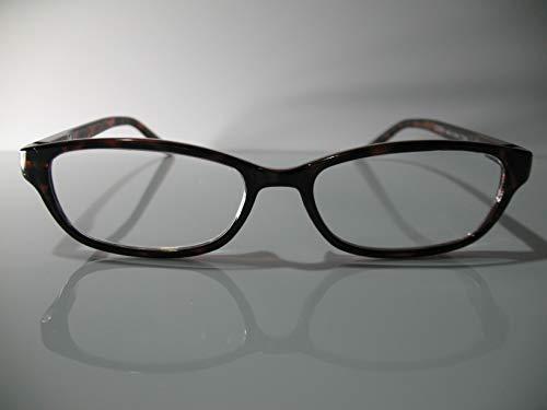 Foster Grant Lila Brown Tortoise Catseye Fashion Womens Reading Glasses +1.75 Free Hard CASE + Microfiber ()