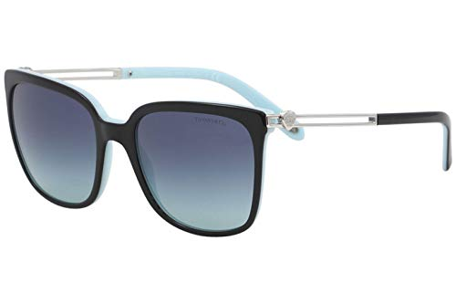 Tiffany & Co. TF4138 - 80559S Sunglasses BLACK/BLUE W/ AZURE GRADIENT BLUE LENS ()