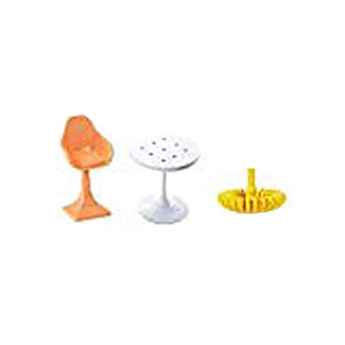 Barbie Replacement Parts Dream-House FHY73 - Includes Doll Size Furniture - White Table, Orange Chair and Yellow Chandelier
